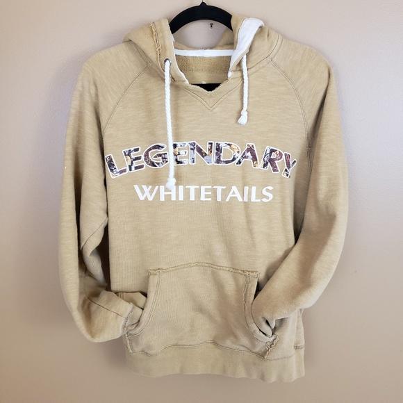 legendary Tops - Legendary whitetail tan Sweatshirt Medium